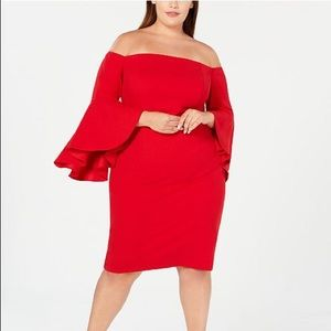 Calvin Klein Plus Size Off the Shoulder Dress